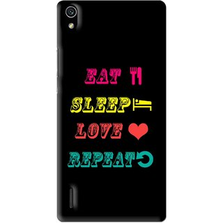 Snooky Printed LifeStyle Mobile Back Cover For Huawei Ascend P7 - Multi