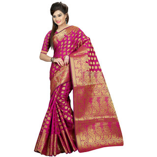 Glamorous Women's Cotton Saree With Blouse Piece