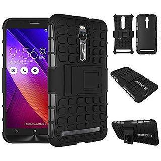 Dream2Cool Hybrid Military Grade Armor Kick Stand Back Cover Case for Asus Zenfone 2 ZE551ML 5.5 Inches  (Black)