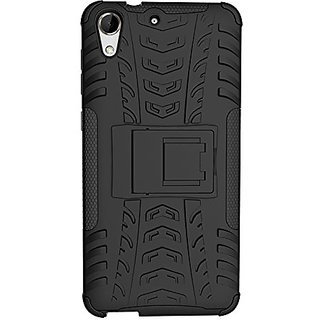 Dream2Cool Hybrid Military Grade Armor Kick Stand Back Cover Case for HTC DESIRE 728 / 728G  (Black)