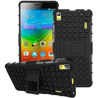 Dream2Cool Hybrid Military Grade Armor Kick Stand Back Cover Case for Lenovo A7000/Lenovo K3 Note (Black)