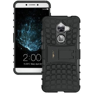 Dream2Cool Hybrid Military Grade Armor Kick Stand Back Cover Case for LeEco Le Max 2 (Black)