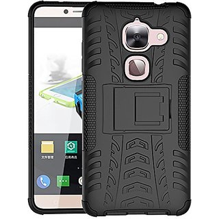 Dream2Cool Hybrid Military Grade Armor Kick Stand Back Cover Case for LeEco Le Max  (Black)