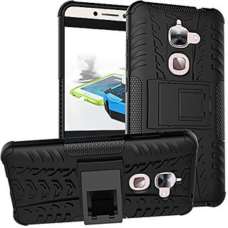 Dream2Cool Hybrid Military Grade Armor Kick Stand Back Cover Case for LeEco Le 2  (Black)