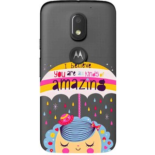 Snooky Printed Amazing Mobile Back Cover of Motorola Moto E3 - Multicolour