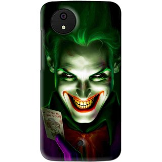 Snooky Printed Loughing Joker Mobile Back Cover For Micromax Canvas Android One - Multi