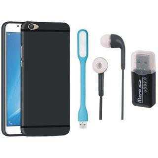Motorola Moto G5 Stylish Back Cover with Memory Card Reader, Earphones and USB LED Light