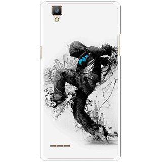 Snooky Printed Enjoying Life Mobile Back Cover For Oppo F1 - White
