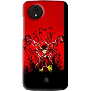 Snooky Printed Super Hero Mobile Back Cover For Micromax Canvas Android One - Multi