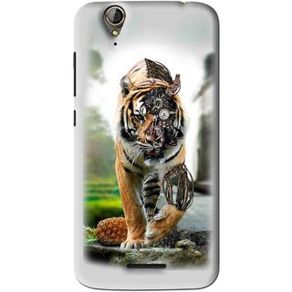 Snooky Printed Mechanical Lion Mobile Back Cover For Acer Liquid Z630S - Grey