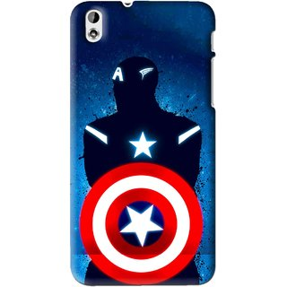 Snooky Printed America Sheild Mobile Back Cover For HTC Desire 816 - Blue
