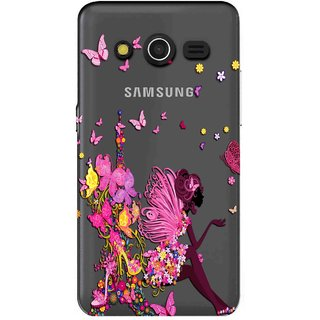 Snooky Printed Butterfly Mobile Back Cover of Samsung Galaxy Core 2 - Multicolour