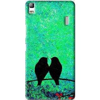 Snooky Printed Love Birds Mobile Back Cover For Lenovo A7000 - Multi