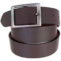 Mens Leather Belt Black Formal / Casual.