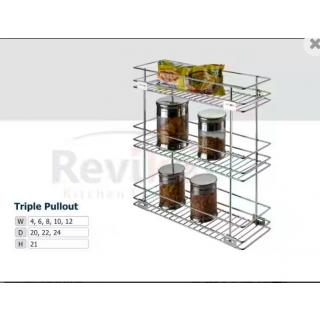 Kitchen tripal pullout basket ( 62021 )