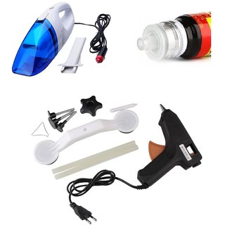 Combo of Car Vacuum Cleaner, Scratch Remover Pen and Dent Remover Kit