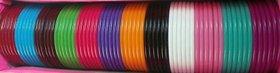 3 mm Plastic bangle base for silk thread jewellery making , 2/4 size , 1 box