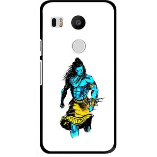 Snooky Printed Bhole Nath Mobile Back Cover For Lg Google Nexus 5X - Multi
