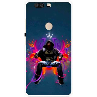 Snooky Printed Live In Attitude Mobile Back Cover For Huawei Honor 8 - Multi