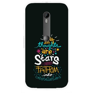 Snooky Printed Thoughts Are Stars Mobile Back Cover For Moto G3 - Multi