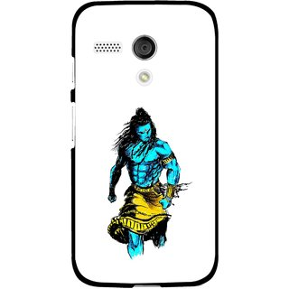 Snooky Printed Bhole Nath Mobile Back Cover For Moto G - Multi