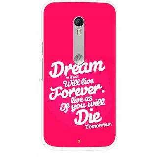 Snooky Printed Live the Life Mobile Back Cover For Motorola Moto X Style - Multi
