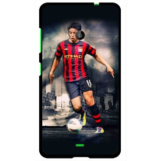 Snooky Printed Football Mania Mobile Back Cover For Microsoft Lumia 535 - Multi