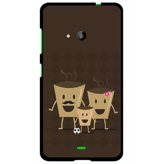 Snooky Printed Wake Up Coffee Mobile Back Cover For Microsoft Lumia 535 - Multi