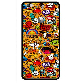 Snooky Printed Freaky Print Mobile Back Cover For Letv Le 1S - Multi