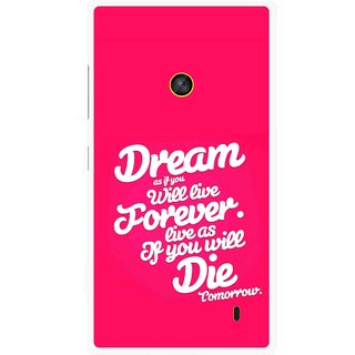 Snooky Printed Live the Life Mobile Back Cover For Nokia Lumia 520 - Multi