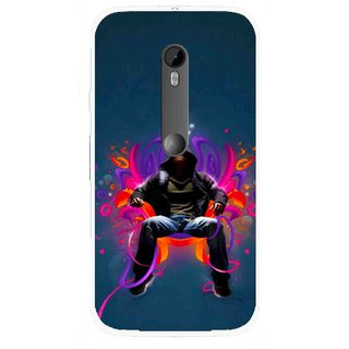 Snooky Printed Live In Attitude Mobile Back Cover For Moto G3 - Multi