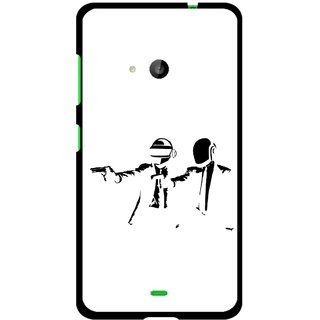 Snooky Printed Gangster Mobile Back Cover For Microsoft Lumia 535 - Multi