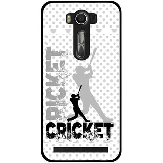 Snooky Printed Cricket Mobile Back Cover For Asus Zenfone 2 Laser ZE500KL - Multi