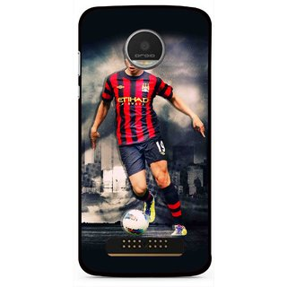 Snooky Printed Football Mania Mobile Back Cover For Moto Z Play - Multi