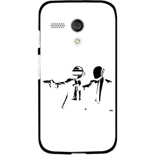 Snooky Printed Gangster Mobile Back Cover For Moto G - Multi