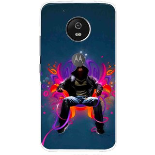 Snooky Printed Live In Attitude Mobile Back Cover For Moto G5 Plus - Multi