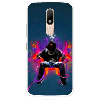 Snooky Printed Live In Attitude Mobile Back Cover For Motorola Moto M - Multi