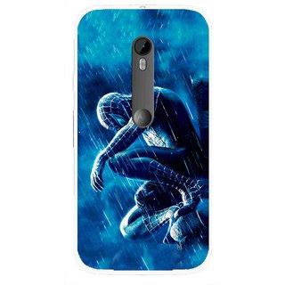Snooky Printed Blue Hero Mobile Back Cover For Moto G3 - Multi