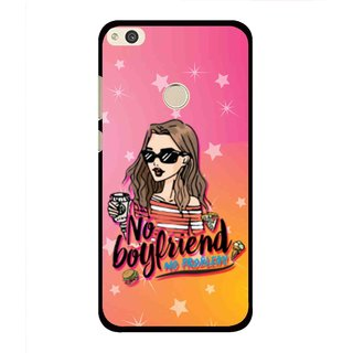 Snooky Printed No Boyfriend Mobile Back Cover For Huawei P8 Lite (2017) - Multi