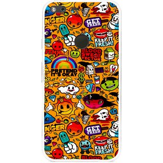 Snooky Printed Freaky Print Mobile Back Cover For Google Pixel XL - Multi