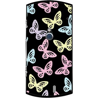 Snooky Printed Butterfly Mobile Back Cover For Sony Ericsson Xperia Neo V - Multi