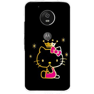 Snooky Printed Princess Kitty Mobile Back Cover For Moto G5 Plus - Multi