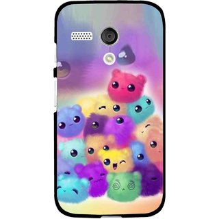 Snooky Printed Cutipies Mobile Back Cover For Moto G - Multi