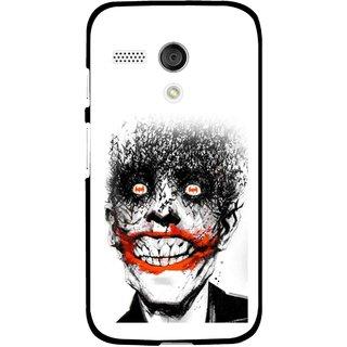 Snooky Printed Joker Mobile Back Cover For Moto G - Multi