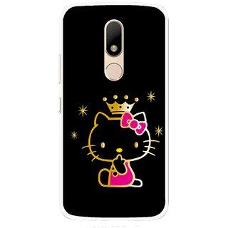 Snooky Printed Princess Kitty Mobile Back Cover For Motorola Moto M - Multi