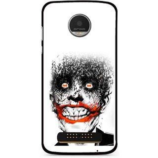 Snooky Printed Joker Mobile Back Cover For Moto Z Play - Multi