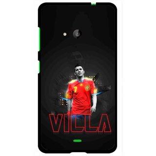 Snooky Printed Sports Villa Mobile Back Cover For Microsoft Lumia 535 - Multi