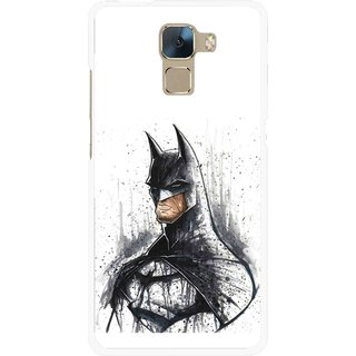 Snooky Printed Angry Batman Mobile Back Cover For Huawei Honor 7 - Multi