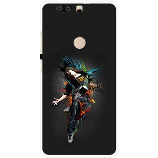 Snooky Printed Music Mania Mobile Back Cover For Huawei Honor 8 - Multi