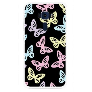 Snooky Printed Butterfly Mobile Back Cover For Asus Zenfone 3 ZE520KL - Multi